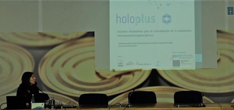 Presentación del proyecto HOLOPLUS en la Jornada Innovación Tecnológica en el Complejo Mar-Alimentario